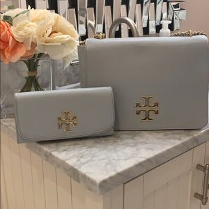 Tory Burch 🎄Baby Blue Bag with Wallet ❄️